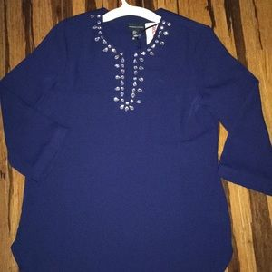 Navy Embellished Tunic